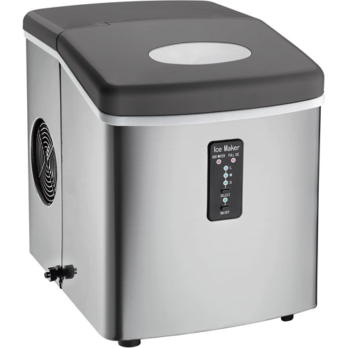 Igloo ICE103 Compact Ice Maker Stainless Steel with Oversized Ice Basket by CURTIS INTERNATIONAL LTD.