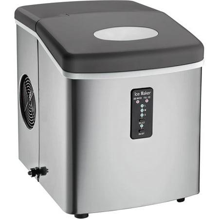 Igloo Compact Ice Maker, Stainless Steel - Walmart.com