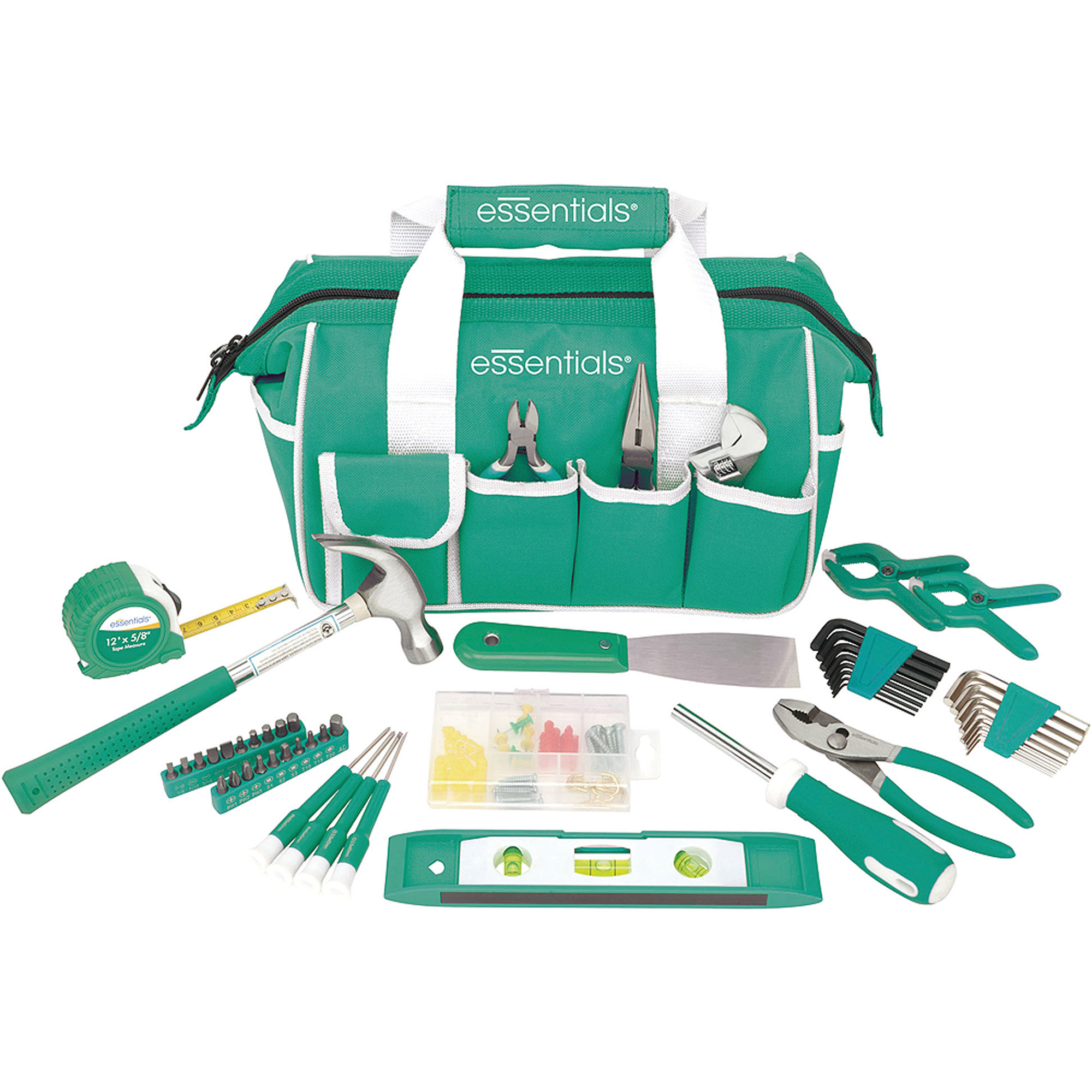Essentials 53-Piece Around-The-House Tool Kit, Teal