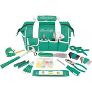 Essentials 53-Piece Around-the-House Basic Tool Kit with Teal Tool Bag for Everyday Use and DIY