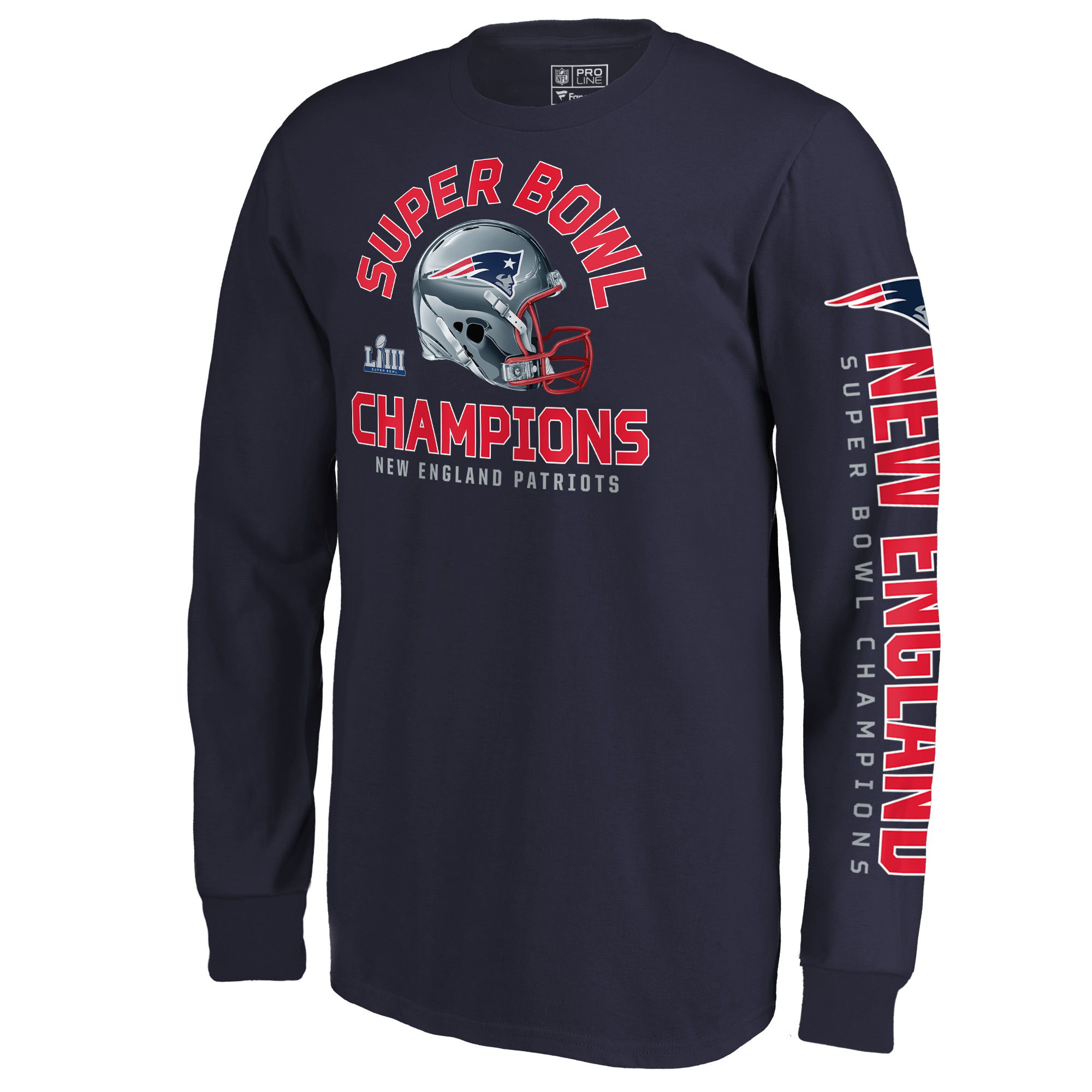 New England Patriots NFL Pro Line by Fanatics Branded Youth Super Bowl LIII  Champions Two-Minute Drill Long Sleeve T-Shirt - Navy - Walmart.com abba1b585