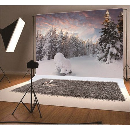 greendecor polyster 7x5ft photography backdrop christmas heavy snow