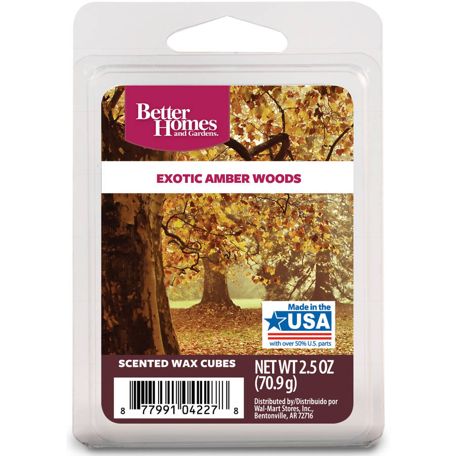 Better Homes and Gardens Wax Cubes, Exotic Amber Woods