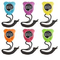 Champion Sports Stop Watch Set of 6 Neon Colors