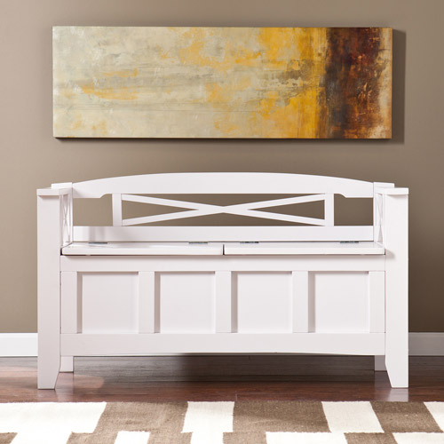 Brossard Storage Bench, White