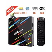 RK3328 H96 Max Android 8.1 TV Box Upgrated 4G 32G/4GB+64GB USB3.0 2.4G Set-top Box Kit Set