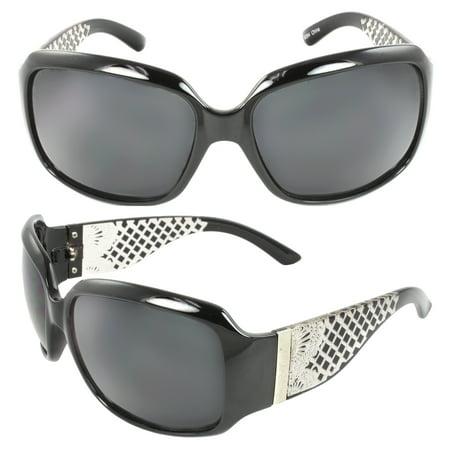 Shield Fashion Sunglasses Black Frame Black Lenses for Women and Men ()