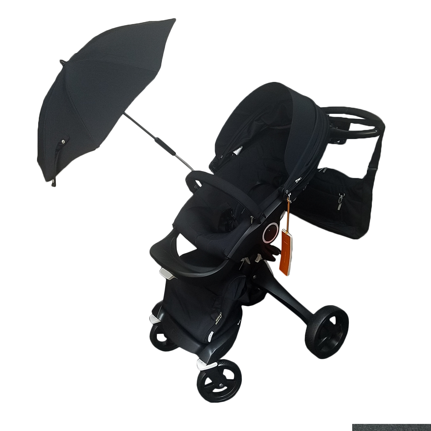 Stokke Xplory V4 Baby Stroller in TRUE BLACK Bundle Limited Edition