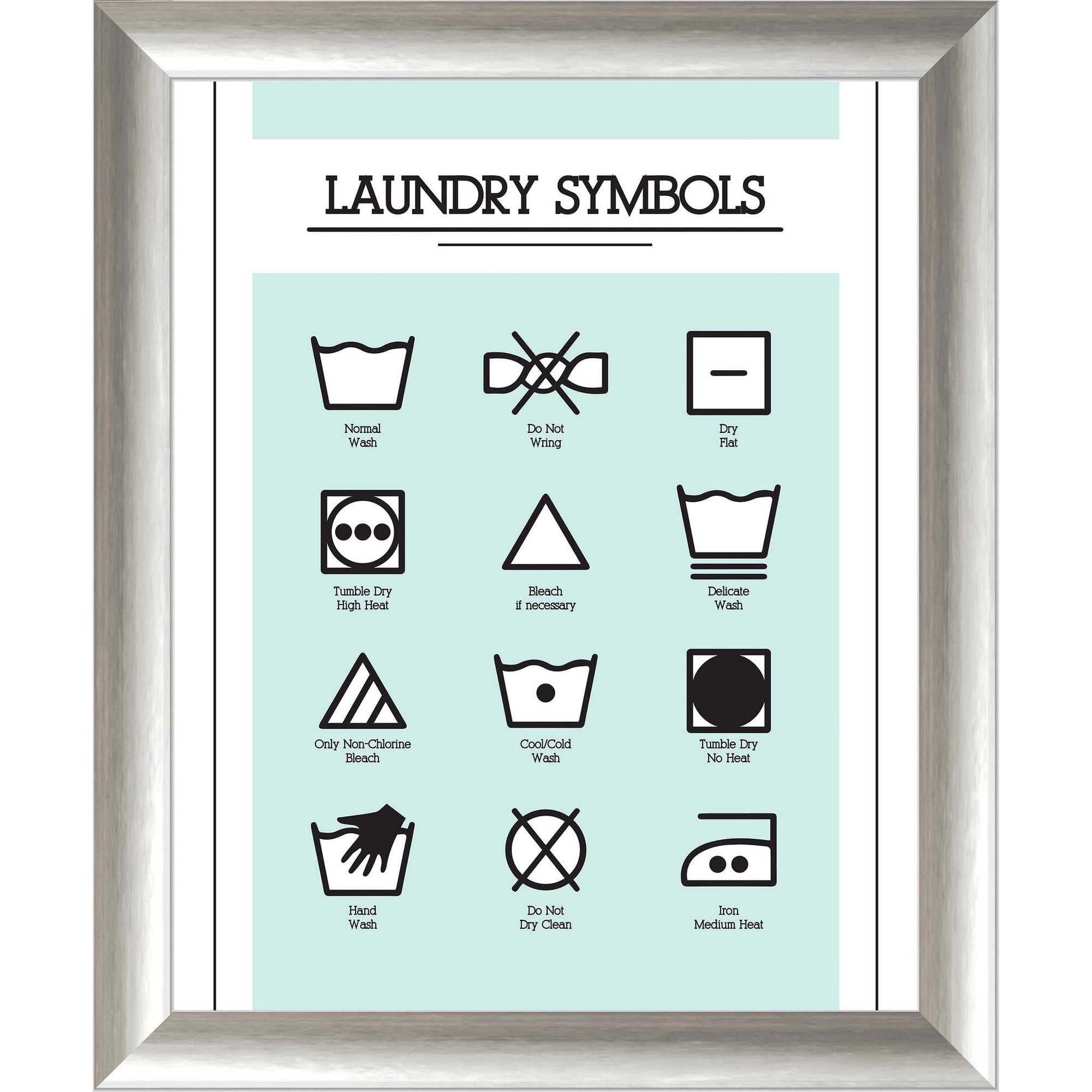 """Laundry Symbols 19.5"""" x 23.5"""" Wall Art"""