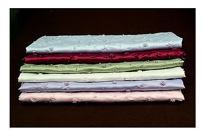 "New 55/"" Pearl Bugle Beads Satin Fabric Blue.Green,Burgundy,Pink,Lilac,off White"