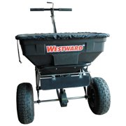 Westward Broadcast Spreader, 125 lb. Capacity, Pneumatic Wheel Type, 1 Hole Drop Type, Fixed T Handle - 4UHD1