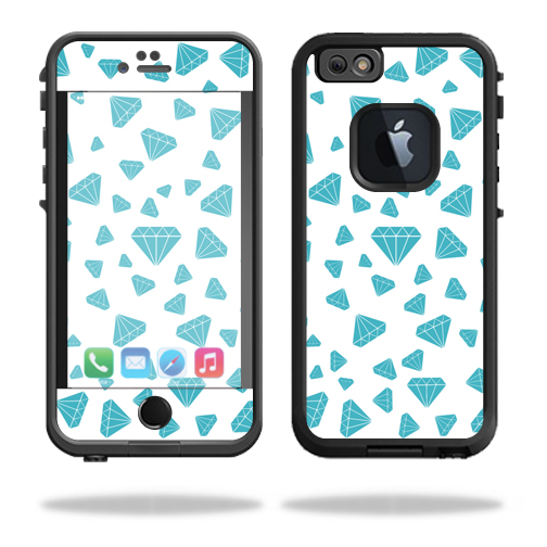 MightySkins Protective Vinyl Skin Decal for Lifeproof iPhone 6 fre wrap cover sticker skins Diamonds