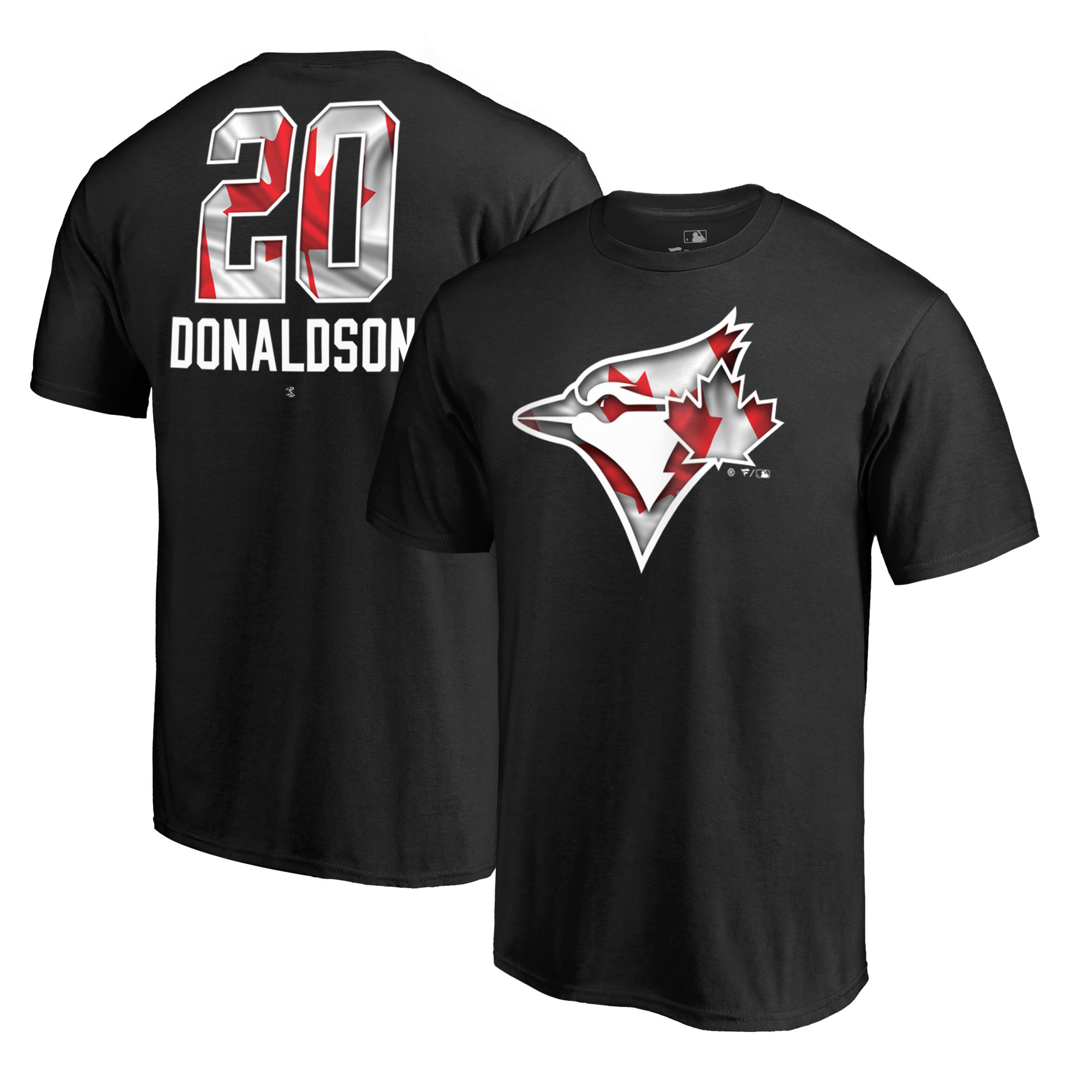 Josh Donaldson Toronto Blue Jays Fanatics Branded 2018 Memorial Day Banner Wave Player T-Shirt - Black
