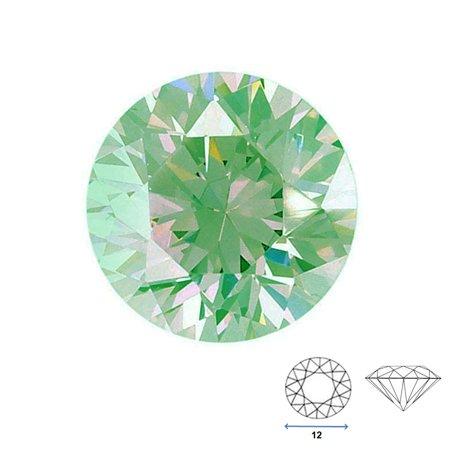 - Round Shape Imitation Peridot Faceted Gemstone Sized 12 mm