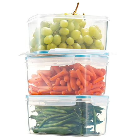 Komax Biokips Large Food Storage Container 81oz. (set of 3) - Airtight, Leakproof With Locking Lids - BPA Free Plastic - Microwave, Freezer and Dishwasher Safe - Great For Fruit & Vegetables](Halloween Food Ideas With Fruit)