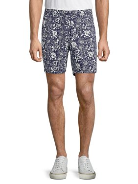 Floral Denim Drawstring Shorts