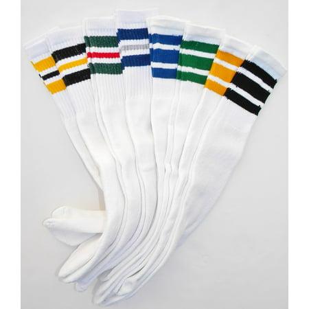Stripe Tube Socks - 8pk classic old school White Striped Tube Socks
