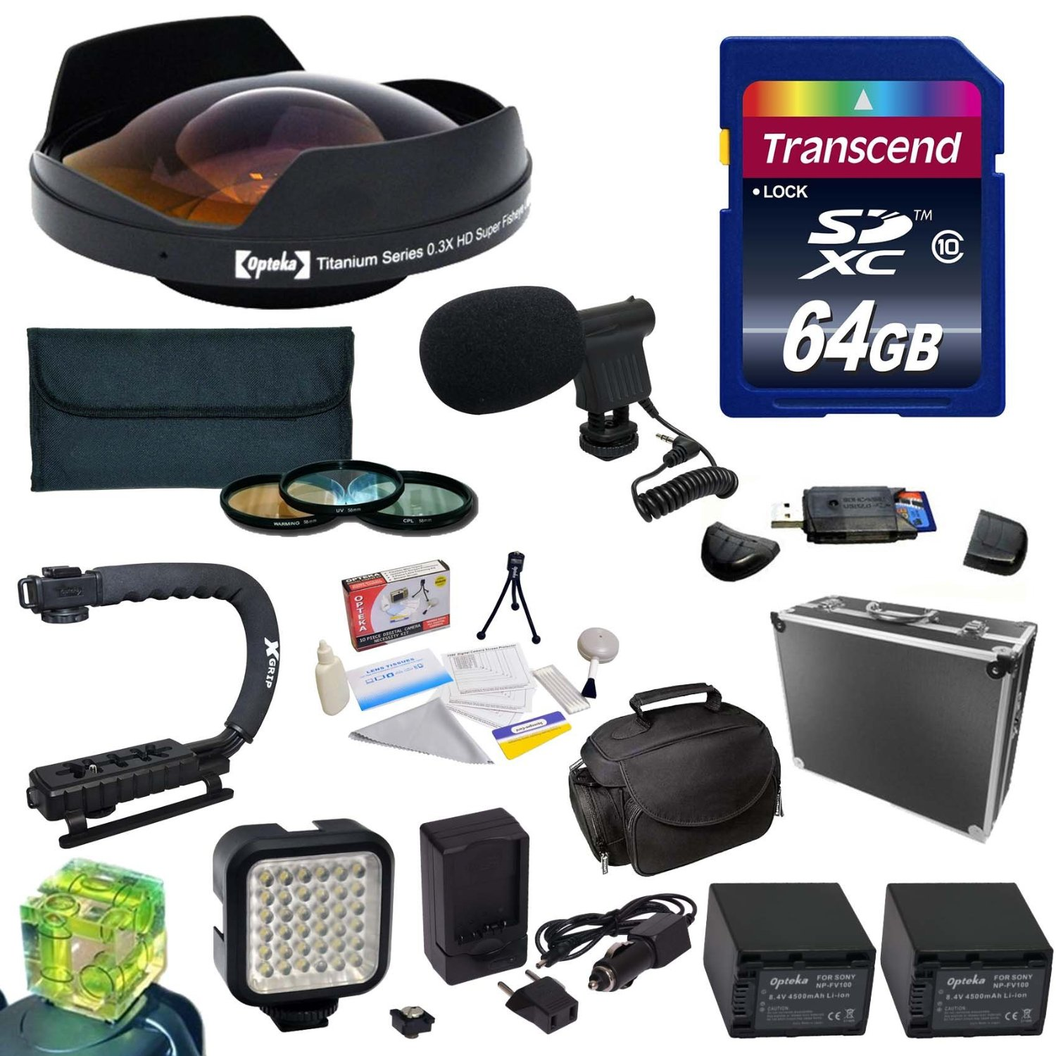 Opteka All Sport Kit for Sony NEX-VG30 Camcorder includes...
