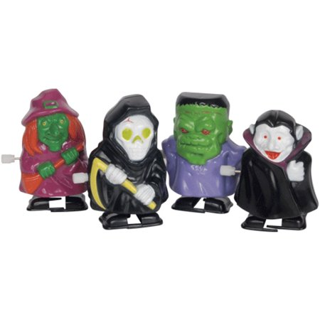 Loftus Wind-Up Halloween Characters Walking Ghouls Wind-Up Toy, 12 Pack](The Office Characters Halloween)