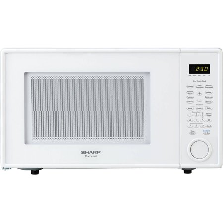 Sharp R309YW Carousel Countertop Microwave Oven 1.1 cu. ft. 1000W White