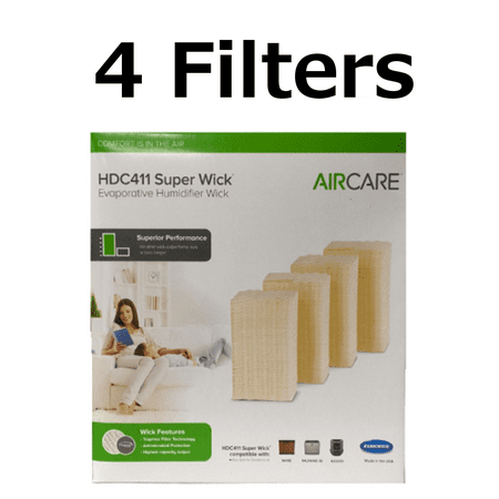 Aircare HDC411 Super Wick, Humidifier Wick Filter Genuine 4 -