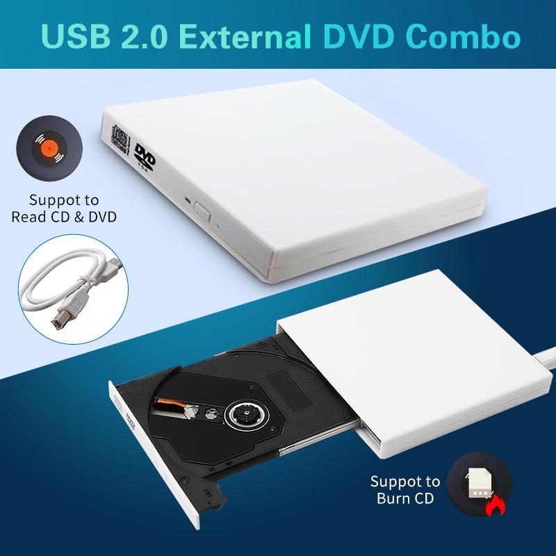 USB 2.0 External DVD Combo CD-RW Burner Drive CD±RW DVD ROM for PC