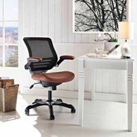 Modway Edge Mesh Back Leatherette Seat Office Chair, Multiple Colors