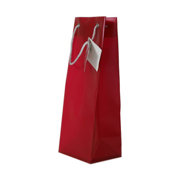JAM Wine Gift Bags - 4 5/8 x 12 1/8 x 4 - Red Opaque - 10...