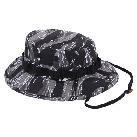 Rothco Camouflage Military Style Boonie Hat, Urban Tiger Stripe Camo