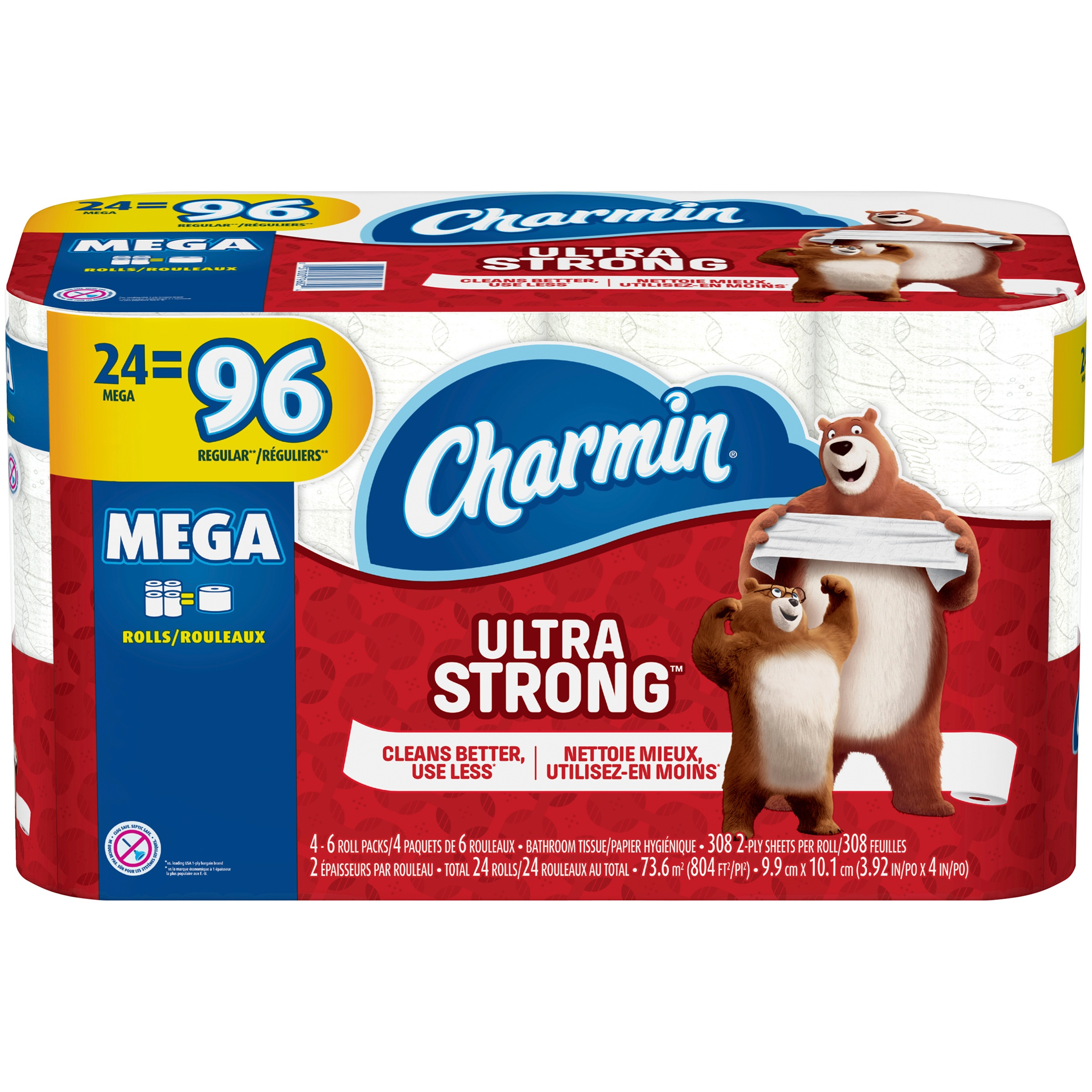 Charmin Ultra Strong Toilet Paper, 24 Mega Rolls