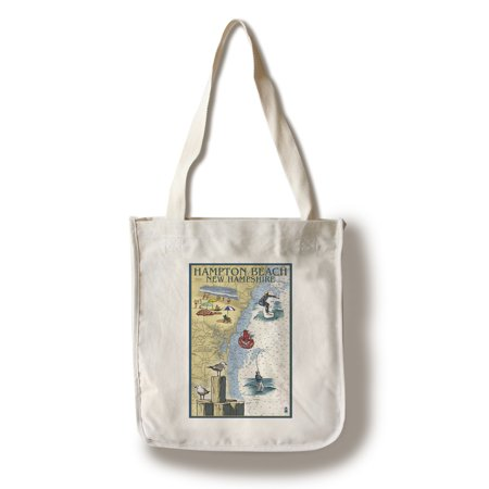 Hampton Beach, New Hampshire - Nautical Chart - Lantern Press Poster (100% Cotton Tote Bag - Reusable)