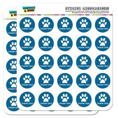 Thank You Dog Paw Print Blue Birthday Baby Boy 1