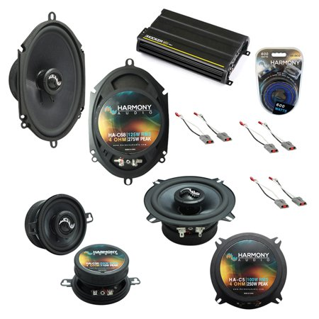 Fits Ford Mustang 1986-1993 Factory Speaker Upgrade Harmony Premium Speakers & CX300.4