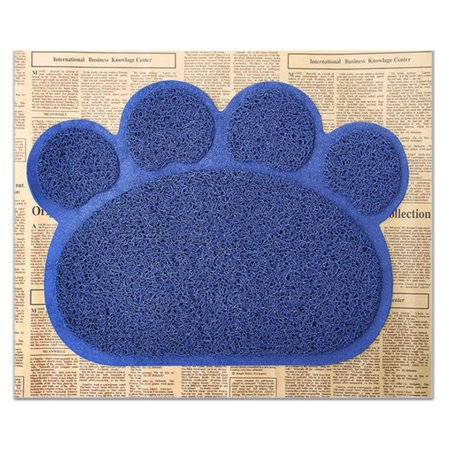 Puppy Kitty Dish Feeding Bowl Placemat Tray Tidy Paw Print Dog Cat Litter Mat Easy Cleaning Sleeping Pad (Kitty Cat Bowl)