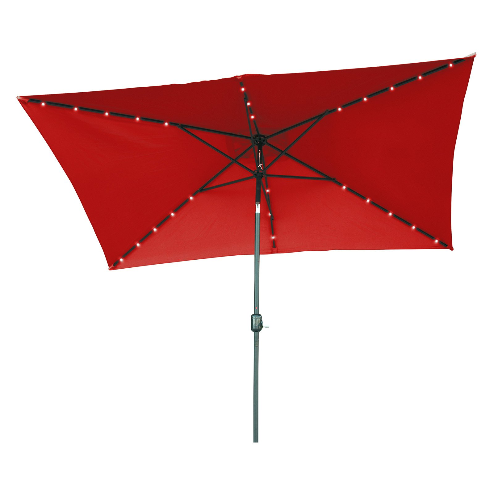 Trademark Innovations 10' x 6.5' Rectangular Solar Powered LED Lighted Patio Umbrella by Generic