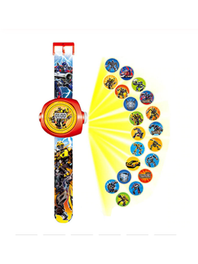 Transformers Robots in Disguise 20/24 Picture Projection Boys Girls Children Action Figure Watch-TRAN1