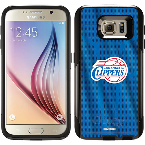 LA Clippers Jersey Design on OtterBox Commuter Series Case for Samsung Galaxy S6