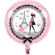 Party in Paris Mylar Balloons, 3 Count