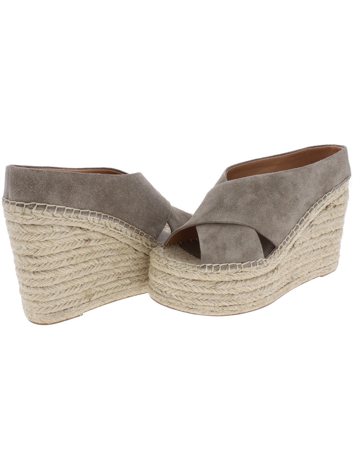 Sigerson Morrison Womens Atifa Suede Sandals Espadrille Wedge Sandals Suede 4450a9