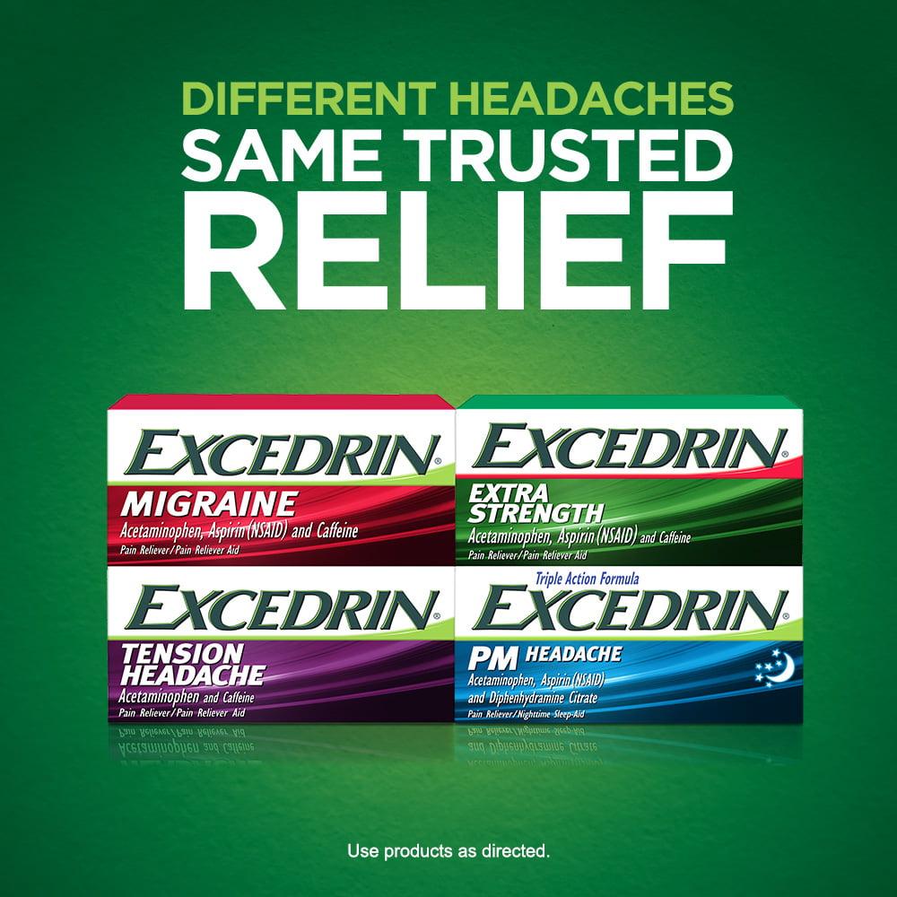 Excedrin Tension Headache Aspirin-Free Caplets for Head, Neck, and