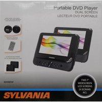 """Sylvania 7"""" Portable Dual Dvd Player"""