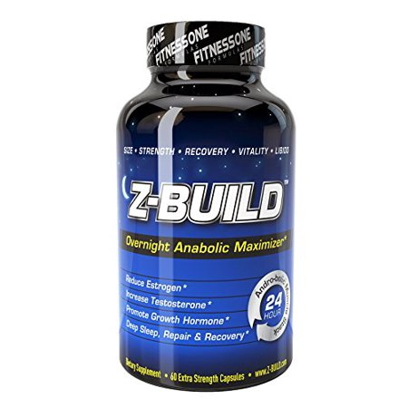 Z-BUILD--OVERNIGHT ANABOLIC MUSCLE BUILDER--60 Capsules: Scientifically designed to promote deeper sleep while maximizing both anabolic muscle support through increased testosterone levels, reduced es