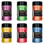 U.S. Art Supply Jewelescent Ultra Bright 6 Color Mica Pearl Powder Pigment Kit