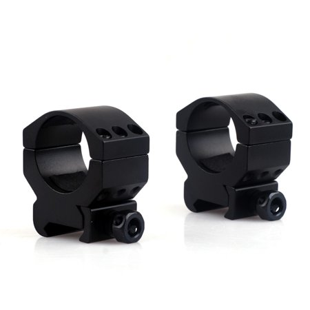 Pair of Tactical 30mm Low Profile 6 Bolt Scope Mount Ring Fits 20mm Weaver Picatinny -