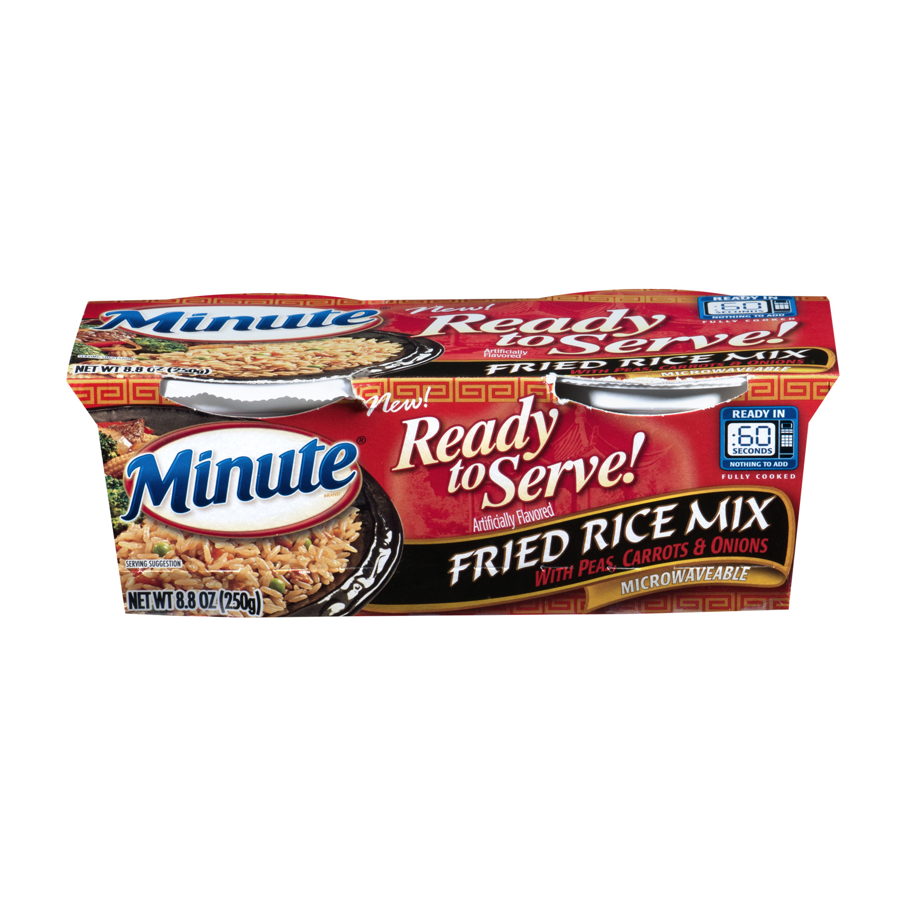 Minute Ready To Serve Fried Rice Mix with Peas Carrots & Onions 8.8 oz Pack