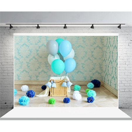 HelloDecor Polyster 7x5ft Birthday Backdrop Sweet Balloon Photography Background Baby Girl Kid Child Infant Artistic Portrait Party Indoor Decoration Photo Shoot Studio Props Video - Halloween Photo Shoot Ideas For Infants