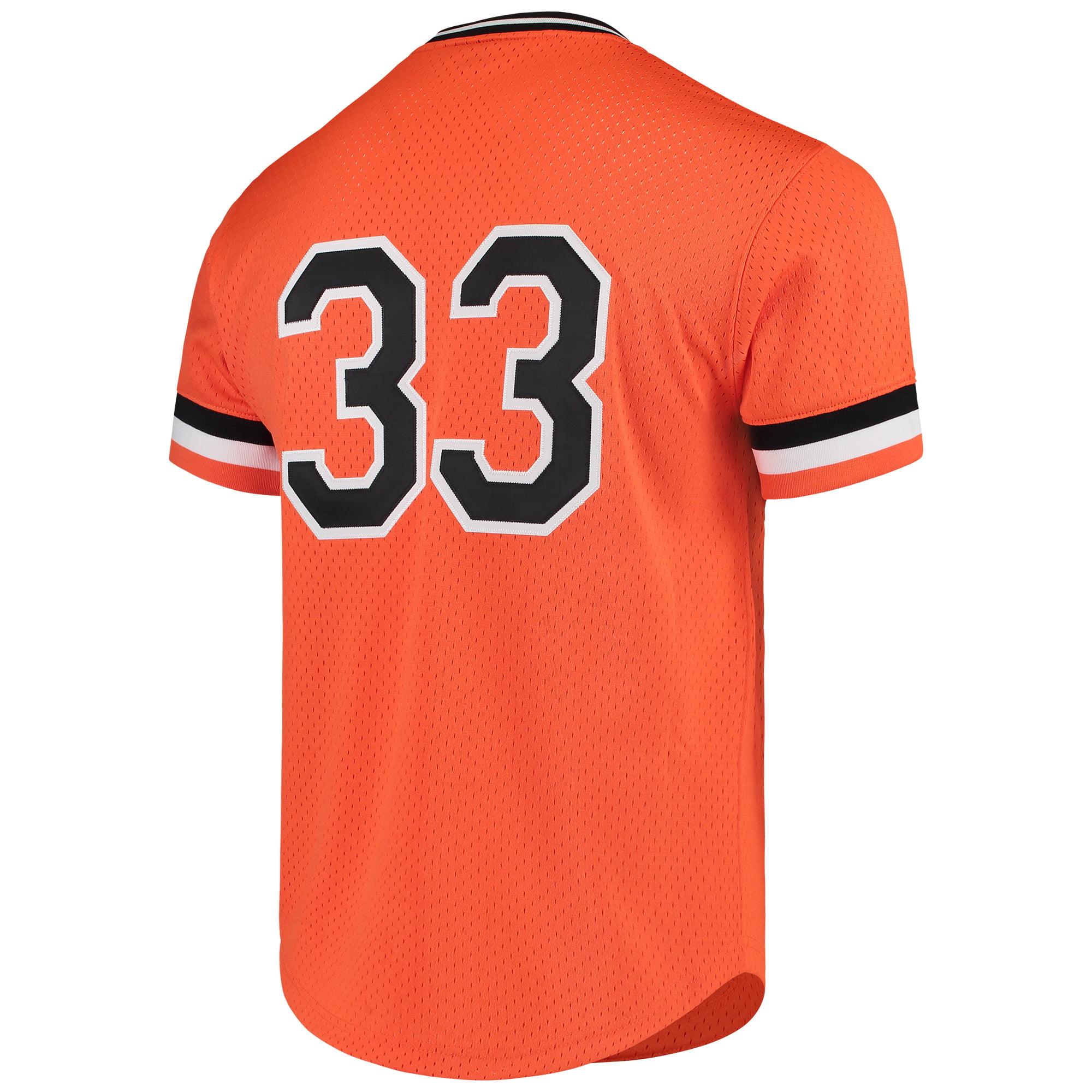 d2eaf78a8 Eddie Murray Baltimore Orioles Mitchell   Ness Cooperstown Mesh Batting  Practice Jersey - Orange - Walmart.com