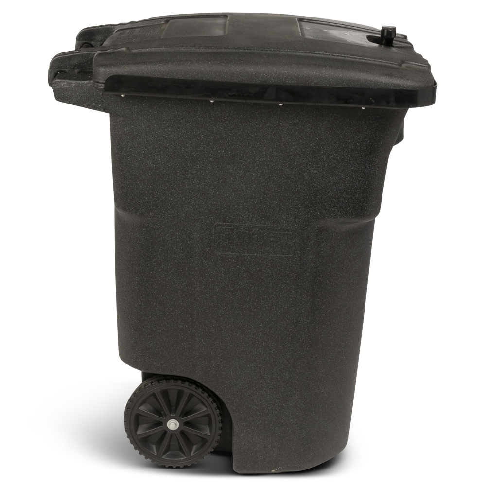 Toter 96 Gal Black Bear Tight Trash Can With Wheels And Lid Lock