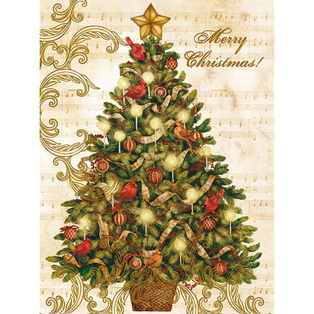 lang christmas tree boxed christmas cards walmart com