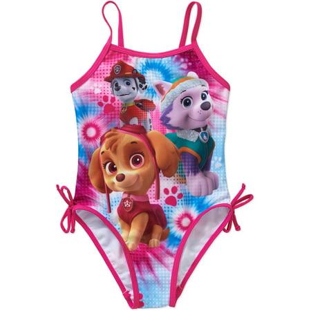 8483deadaa PAW Patrol - Skye, Everest, Marshall Toddler Girl 1-Piece Swimsuit ...